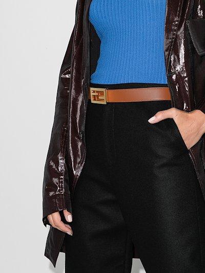 brown reversible leather belt