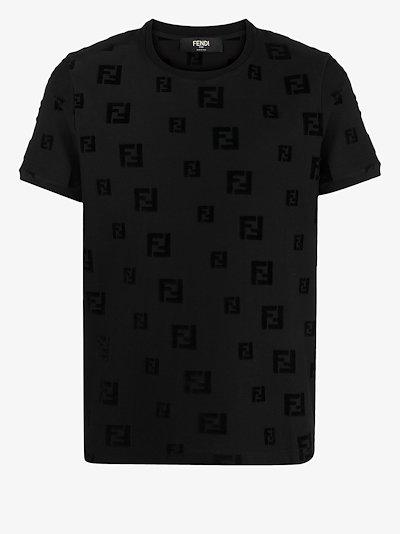 chenille FF motif t-shirt