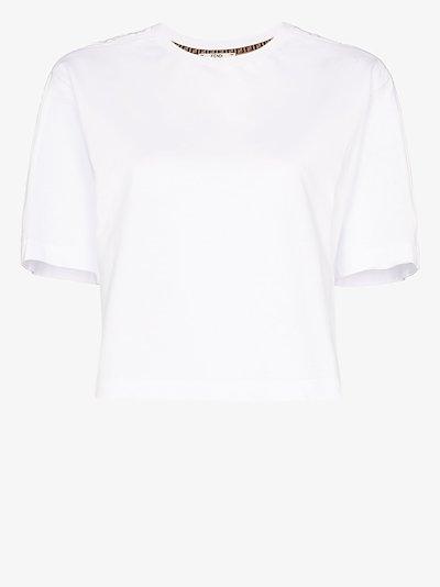 cropped cotton T-shirt