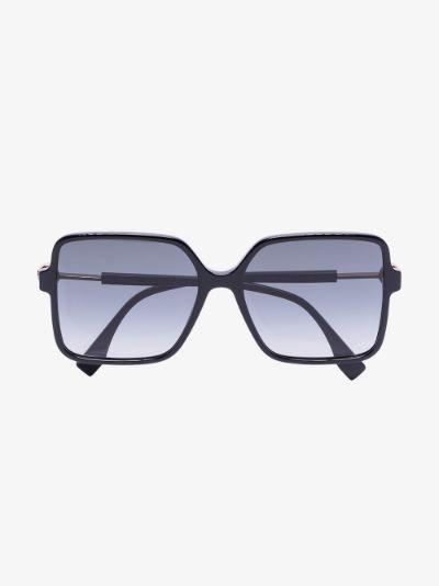 black square frame tinted sunglasses