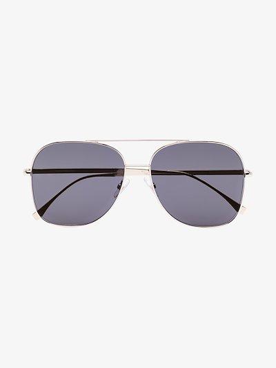 Black Square metal frame sunglasses