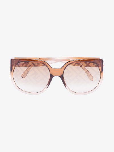 brown square frame FF sunglasses