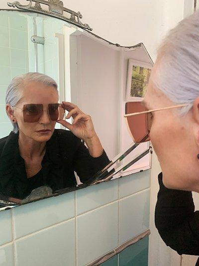 brown square frame sunglasses