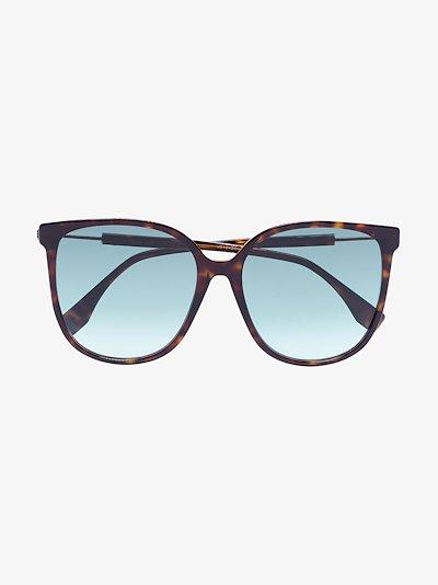 Brown Tortoiseshell logo arm sunglasses