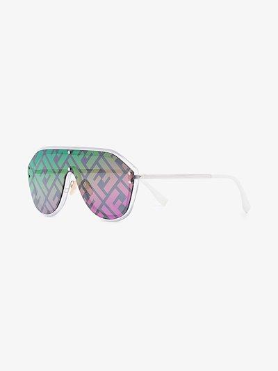 Multicoloured Rainbow FF logo sunglasses