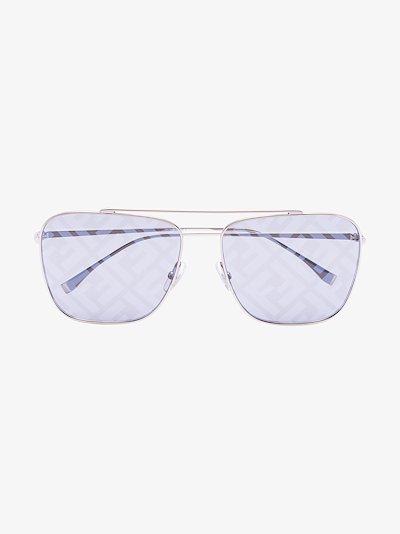 silver tone FF motif sunglasses