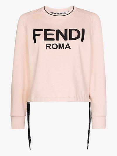 Fendi Roma bow-embellished sweatshirt