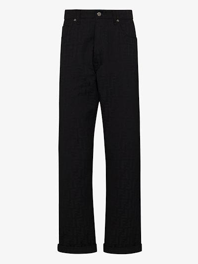 FF embossed slim leg jeans
