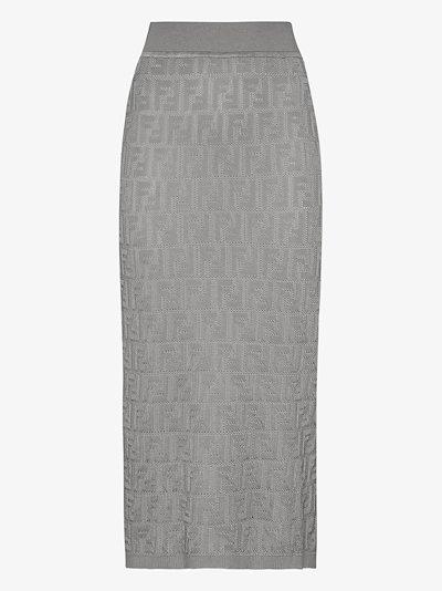 FF embroidered skirt