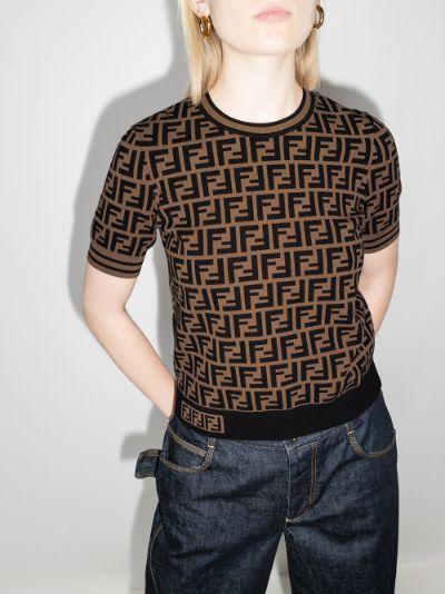 FF logo knit top