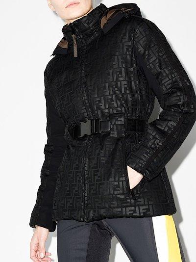 FF-motif reversible padded jacket