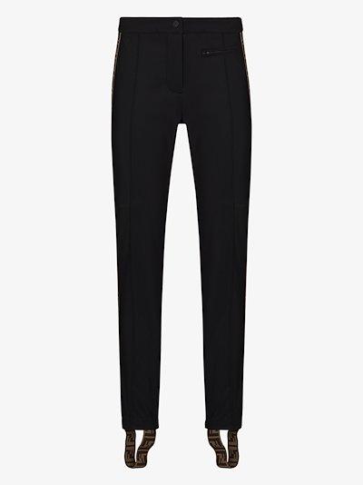 FF motif stirrup skinny trousers