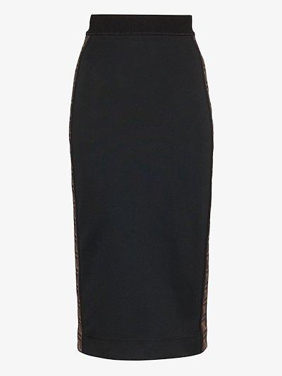 FF motif stripe pencil skirt