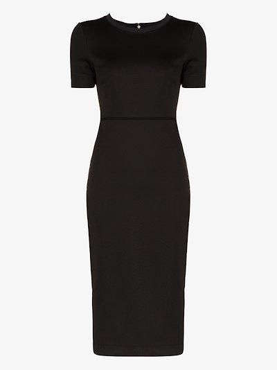 FF motif trim fitted dress