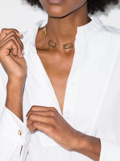 gold tone Zucca choker necklace