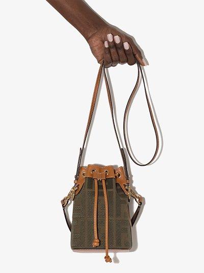 green Mon Tresor mini bucket bag