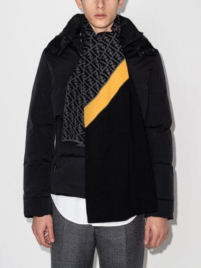 grey FF logo wool scarf