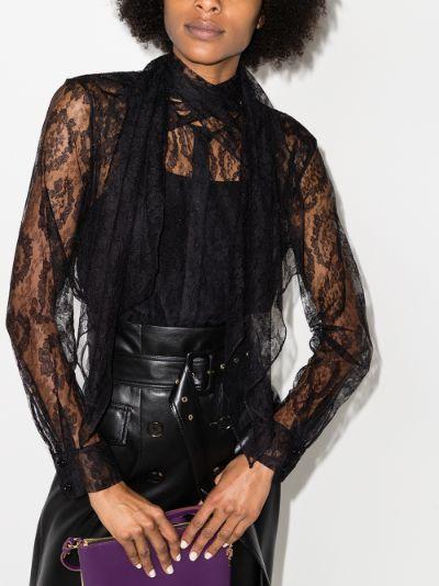 High neck lace blouse