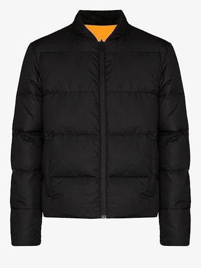 logo reversible padded jacket