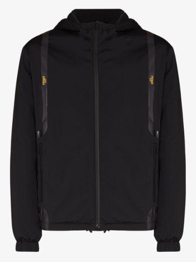 logo tape hooded jacket