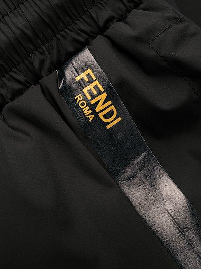logo tape track pants