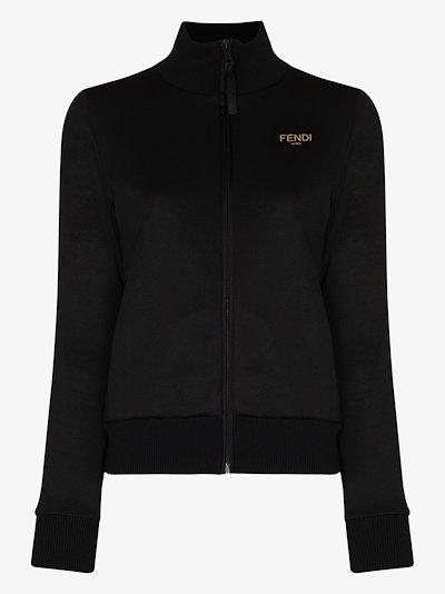 logo zip track jacket