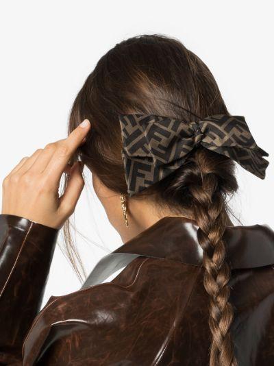 monogram print hair clip