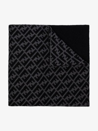 panelled FF print scarf