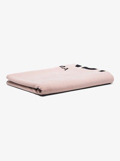 pink logo throw