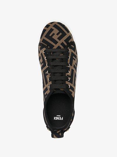 Rise logo-print flatform sneakers