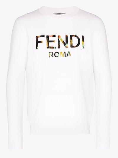 Roma logo cotton sweatshirt