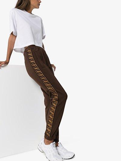Roma logo stripe track pants