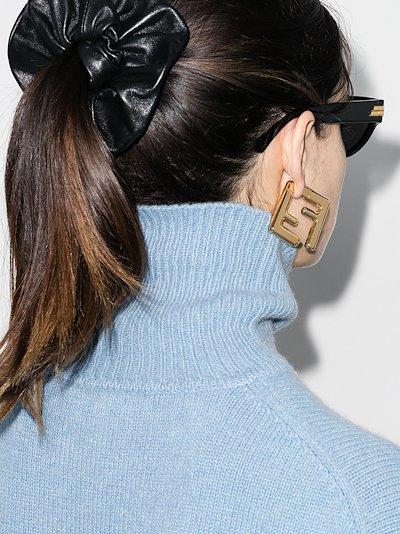 small FF earrings