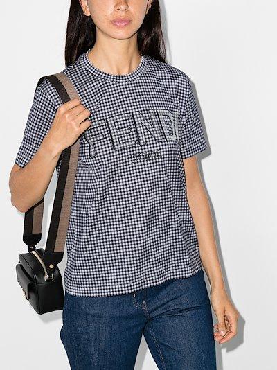 Vichy gingham logo cotton T-shirt