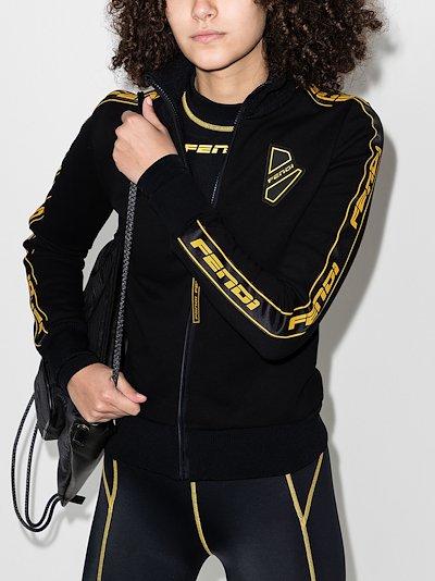 zip-up logo track jacket