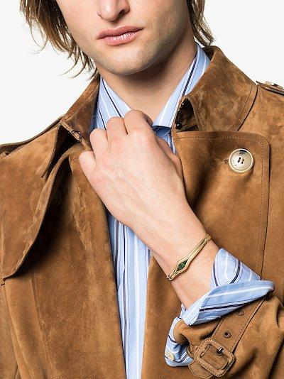 18K yellow gold Trillion tourmaline bracelet