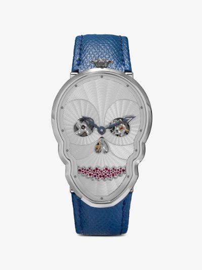 white Petit Skull diamond watch