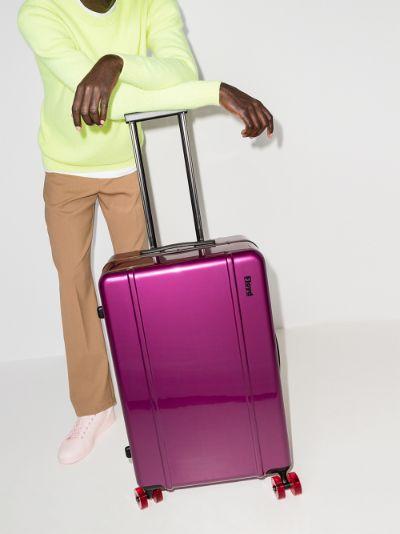 magic purple check-in suitcase