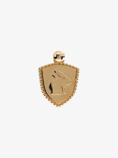 18K yellow gold Abundant Love baby crest charm