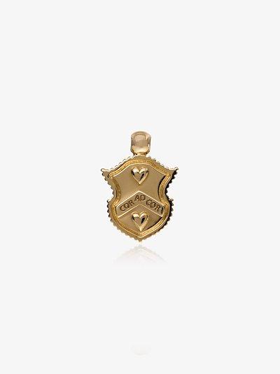 18K Yellow Gold Cor Ad Cor baby crest charm