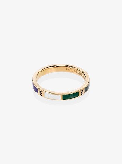 18K yellow gold Course Correction diamond ring