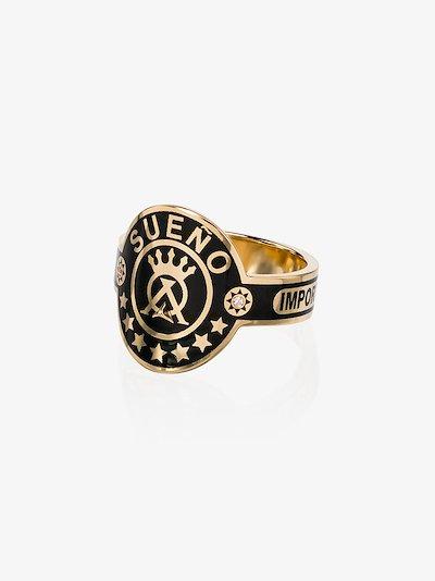18K Yellow Gold Dream Cigar band diamond ring