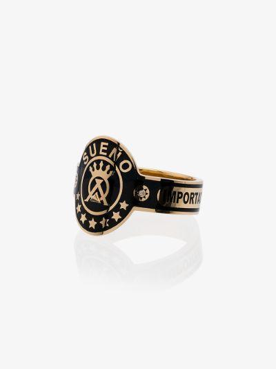 18k yellow gold Dream Cigarband diamond ring