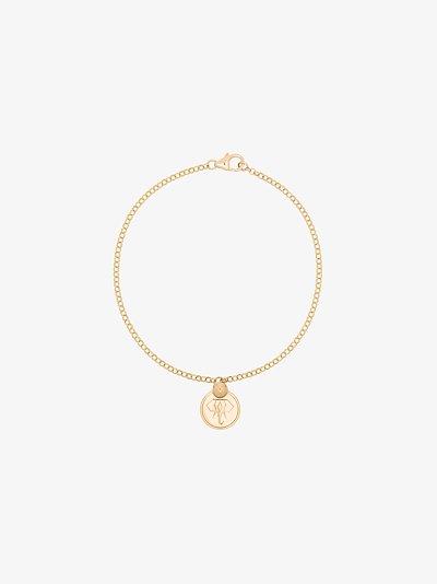 18K yellow gold Elephant miniature coin charm bracelet