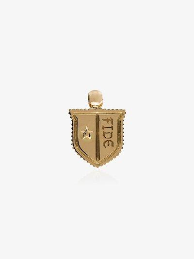 18K yellow gold Fide Vestige baby crest charm
