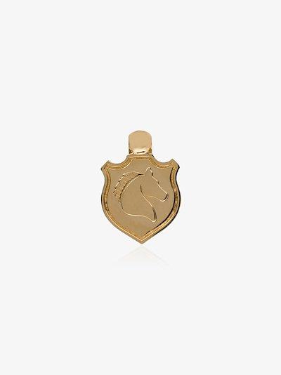 18K Yellow Gold Invictus baby crest charm