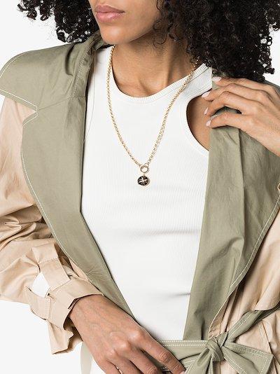18K Yellow Gold open belcher chain necklace