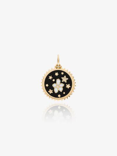 18K yellow gold Resilience petite diamond medallion charm