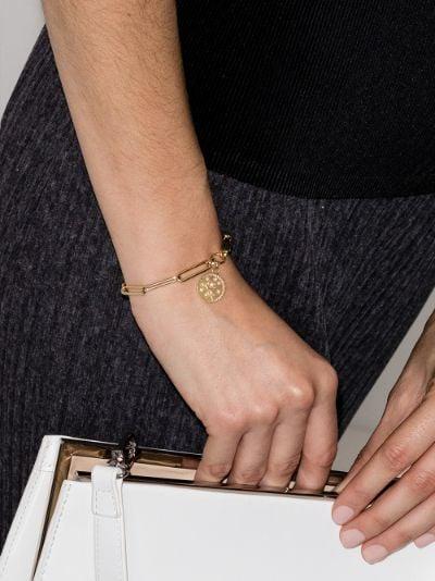 18K yellow gold Rose of the World extended clip diamond bracelet