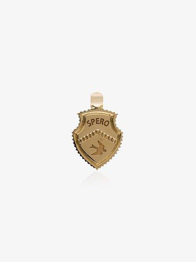 18K yellow gold Spero baby crest charm